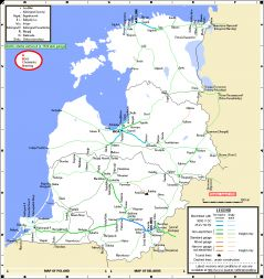 Maps Baltic States Network