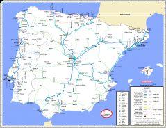 Maps Iberian Peninsula