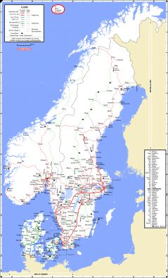 Maps Scandinavian Peninsulas Network